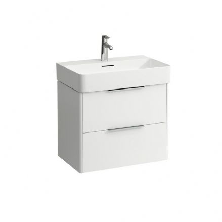 810284 - Laufen Val 650mm x 420mm Washbasin & Base Vanity Unit - 8.1028.4